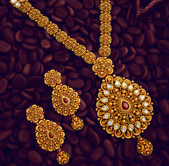 Long Necklace 2 Gold Jewellery Bridal Jewellery Stores